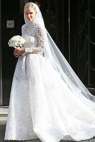Celebrity Long Sleeve Wedding Dresses