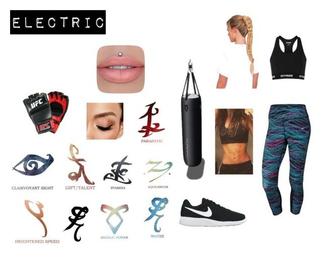 """""""Electric"""" by cambam071603 ❤ liked on Polyvore featuring NIKE, Topshop and Avon"""