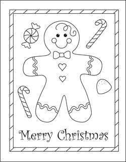 Christmas Coloring Cards For Kids Printable Free Coloring Cards