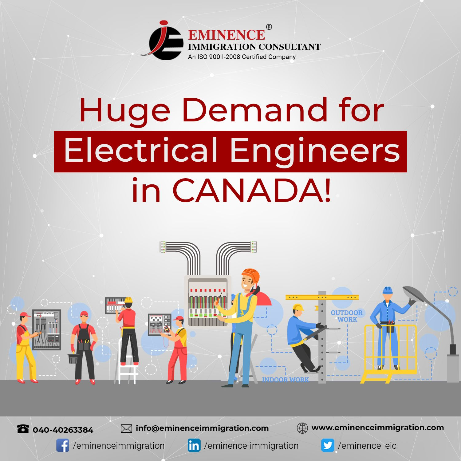 Huge demand for Electrical Engineers in #Canada! Good news for