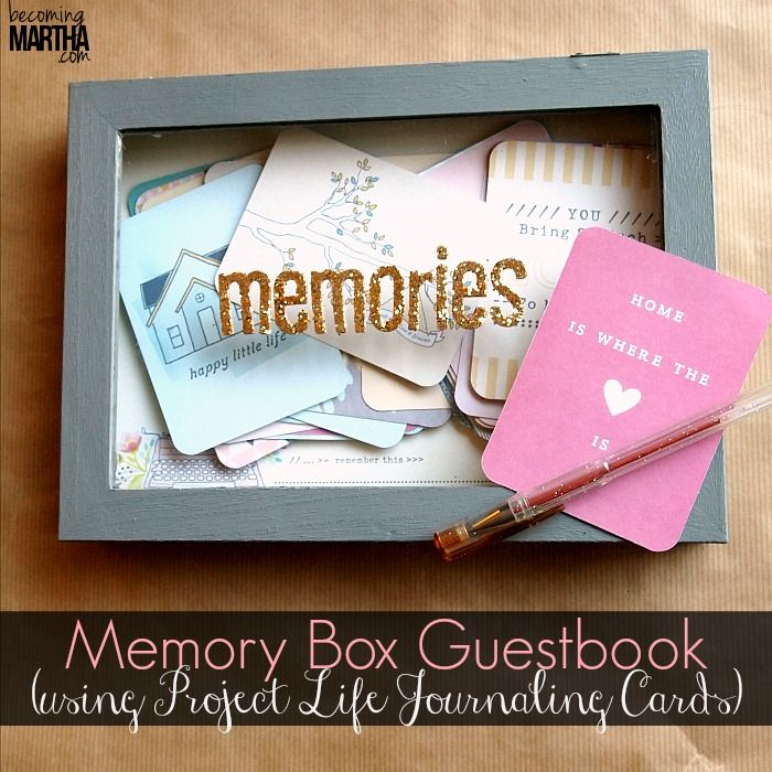 Memory Box Guestbook Using Project Life Cards Project Life Cards Memory Box Cards