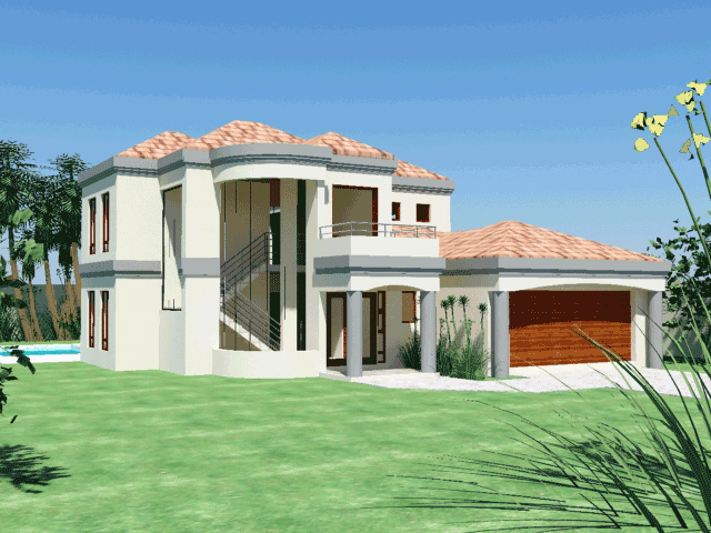 A Charming 4 Bedroom House Plan This 4 Bedroom Double Story Floor Plan Features Ground Floor Modern House Plans Double Storey House House Plans South Africa