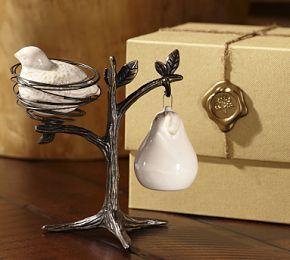 Partridge in a Pear Tree Salt & Pepper Shakers #Pottery Barn