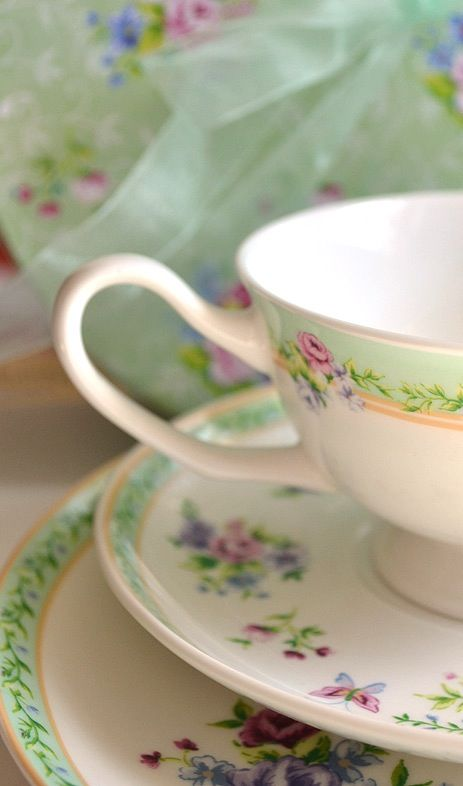 Lovely tea time china...