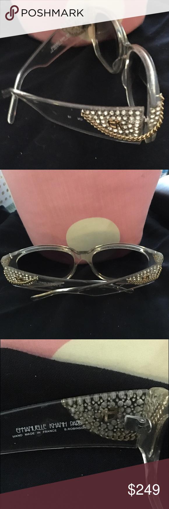 c42553c6daf Vintage rare emmanuell khahn paris clear sunglass pinterest png 580x1740  Emmanuel kahn sunglasses paris