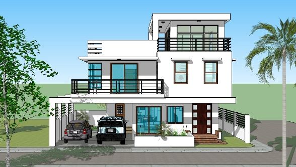 Latest House Design House Construction Philippines - Box type house design philippines