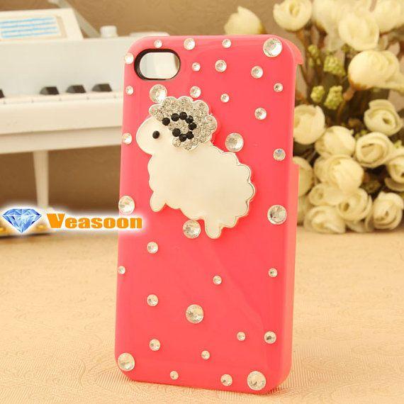 sheep iphone case cute iphone 4 case cute iphone 5 case by Veasoon, $17.99