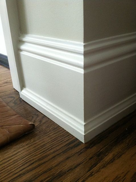 Instead Of The Typical Quarter Round Baseboard Styles
