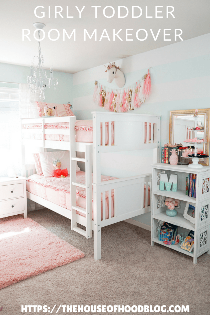 big girls bedroom update with bunk beds pink bedding by beddy s rh pinterest com
