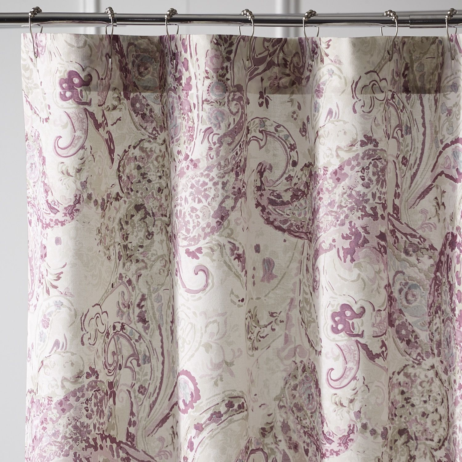 Tranquil Paisley Lilac Shower Curtain Purple