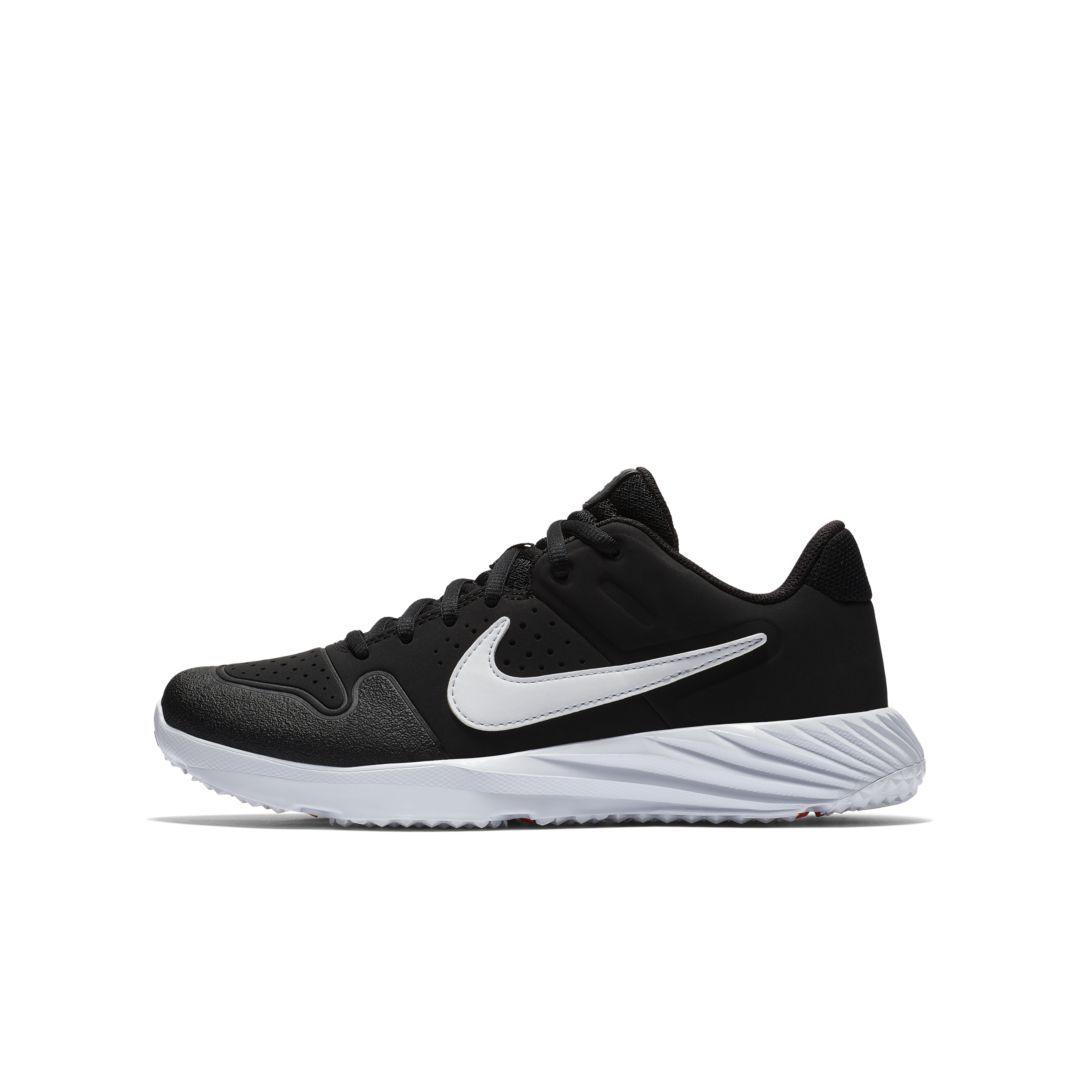 best website 364d2 b8dcd Nike Alpha Huarache Turf Little Big Kids  Baseball Cleat Size 1Y (Black)