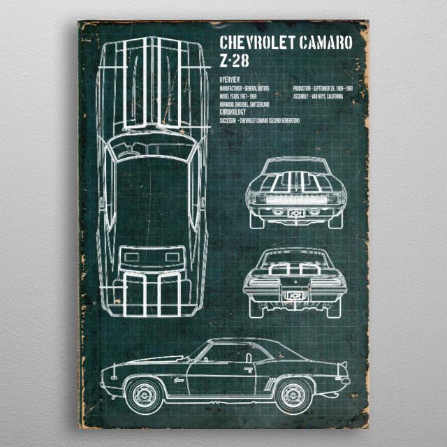CHEVROLET CAMARO GRID by FARKI15 DESIGN | metal posters - Displate | Displate thumbnail