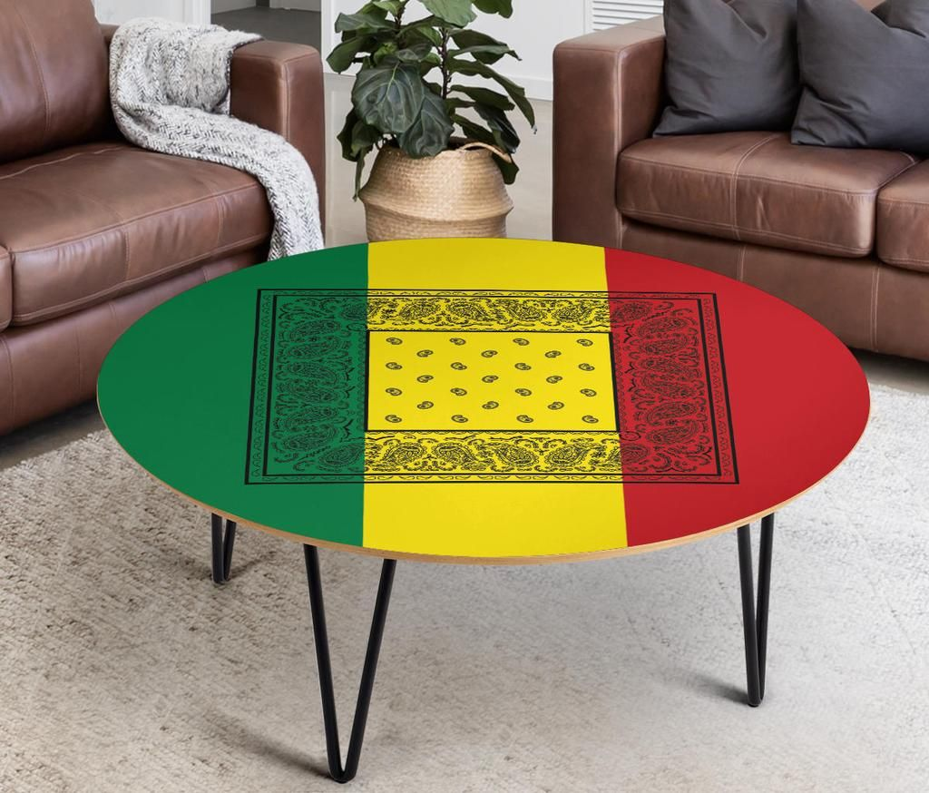 Rasta Bandana Round Birch Coffee Table Coffee Table Size Cheap