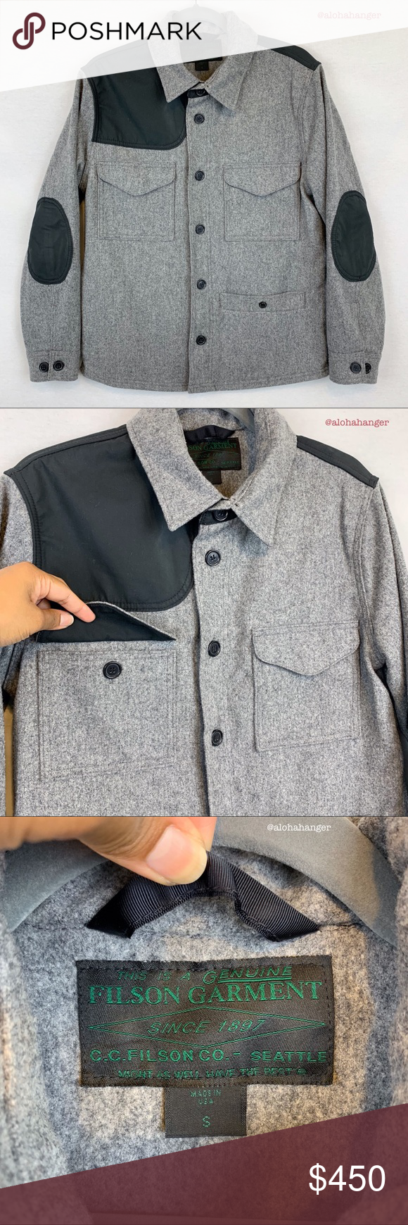 14efd4fbd Filson Limited Edition Rare 100% Wool Jacket! Single Mackinaw 100 ...