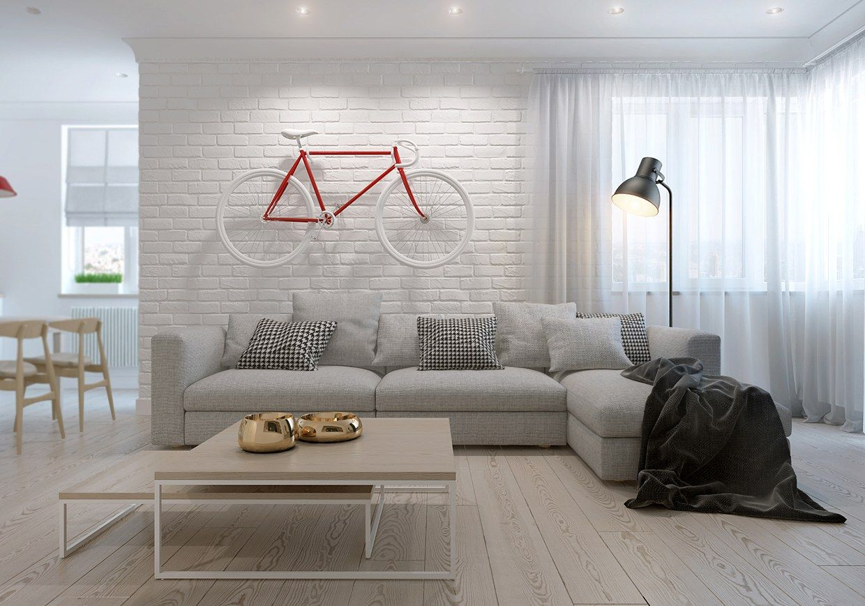 Creative Scandinavian living room design More Luxurious