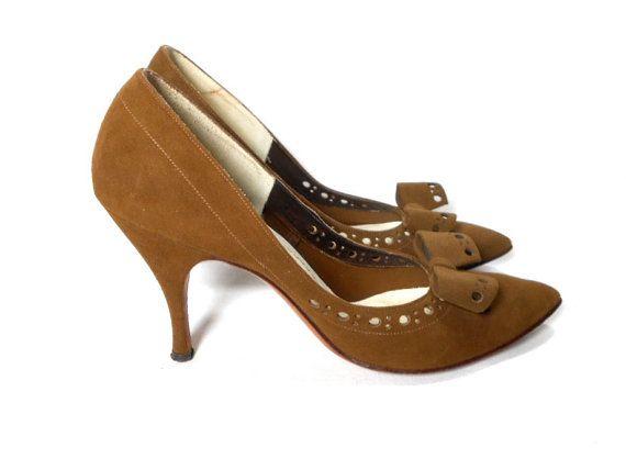 Suede custommade heels by Schwartz.