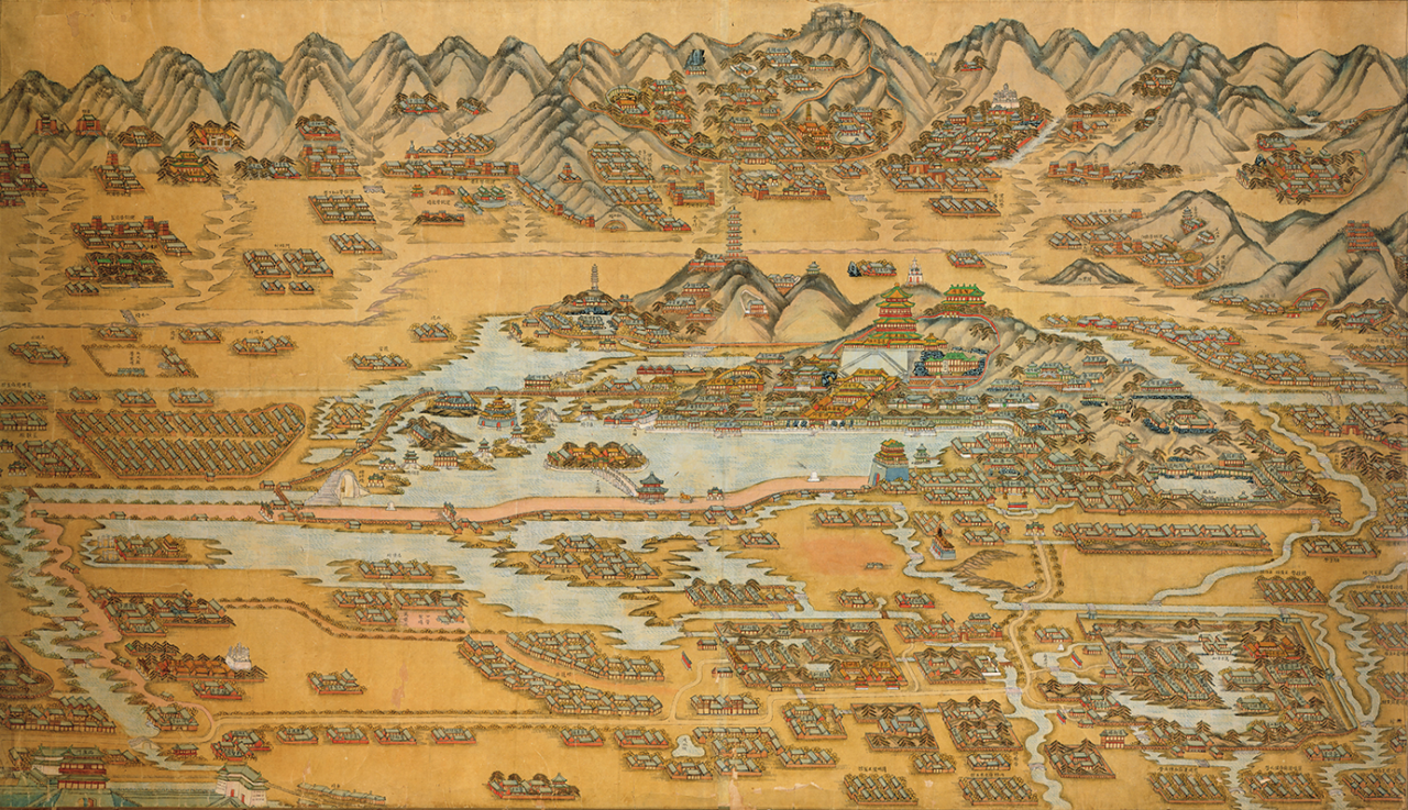 Map of the Summer Palace in Beijing