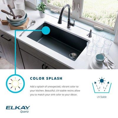 elkay quartz classic 25 x 19 undermount kitchen sink finish rh pinterest co uk