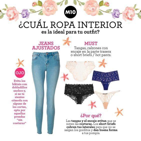 Qué tipo de ropa interior usar dependiendo tu outfit, ¡apunta ...