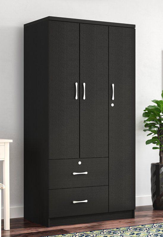 Blankenship 3 Door Armoire Wardrobe Door Designs Wall Wardrobe Design Bedroom Cupboard Designs