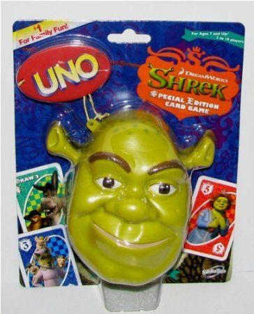 Original Shrek Special Edition Uno Card Game Set In Collectible Shrek Case Set Card Game Uno Card Game Shrek