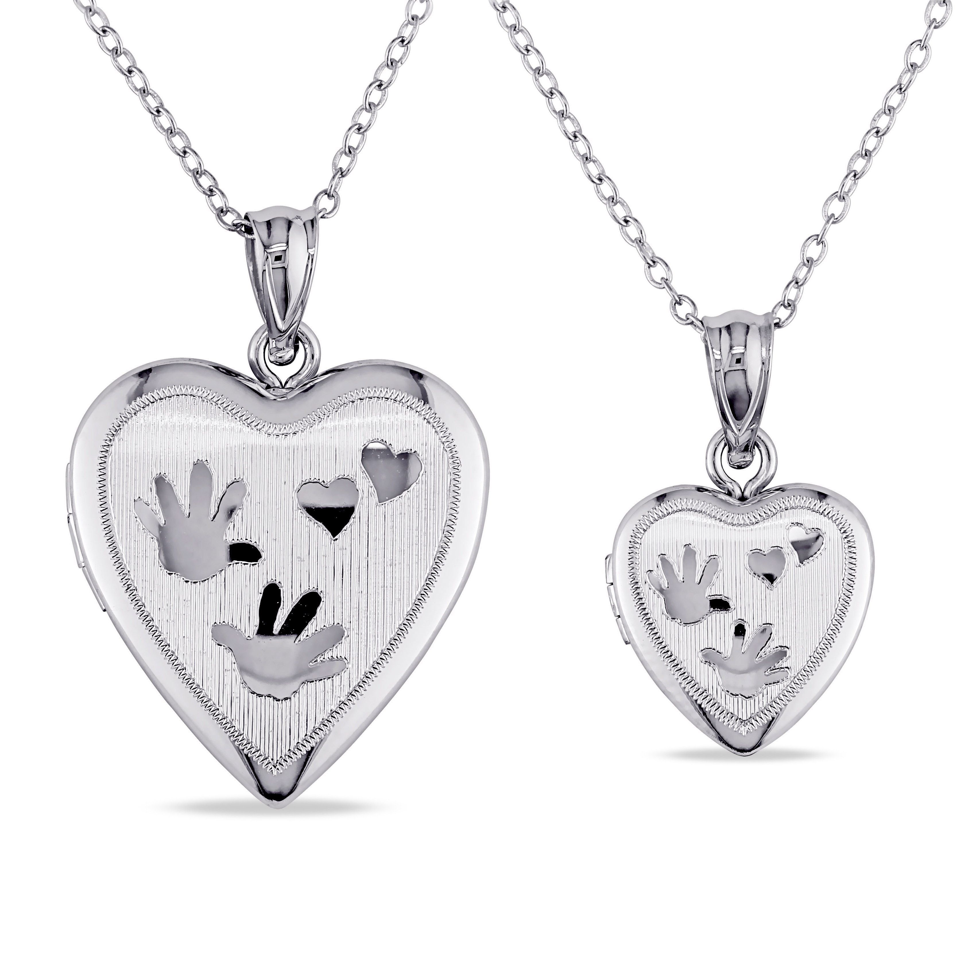 Miadora sterling silver 2 piece heart necklace locket set womens miadora sterling silver 2 piece heart necklace locket set womens mozeypictures Image collections