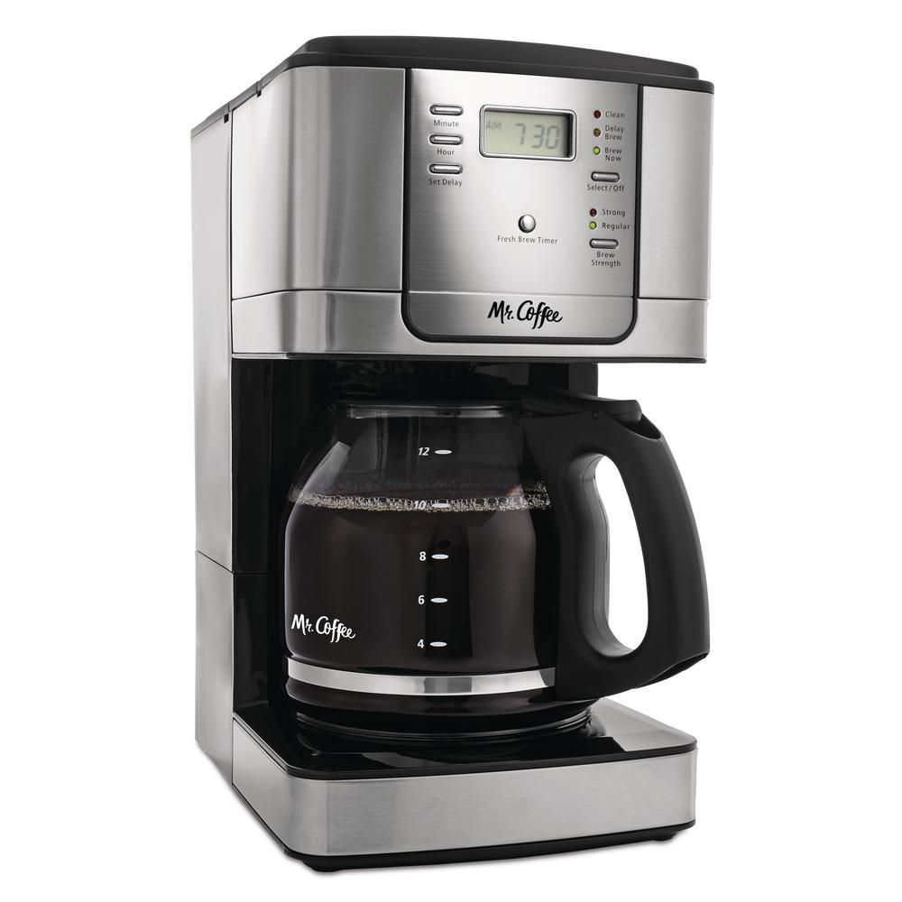 Mr Coffee 12 Cup Stainless Steel Drip Coffee Maker With Automatic Shut Off Jwx36 Rb Best Coffee Maker Coffee Coffee Maker Machine
