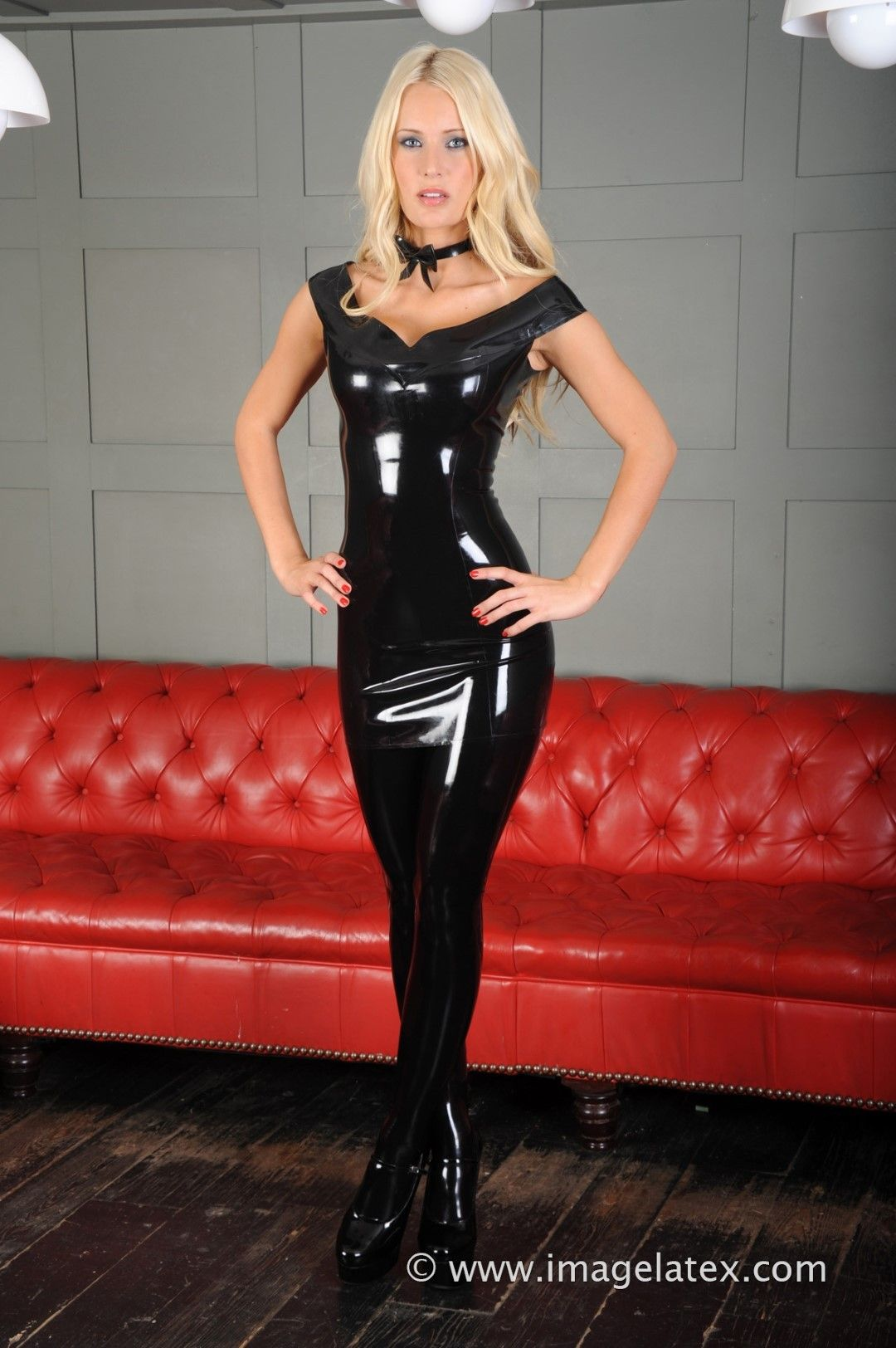 Latex Letter%0A  Tight  Latex  Dress  HighHeels