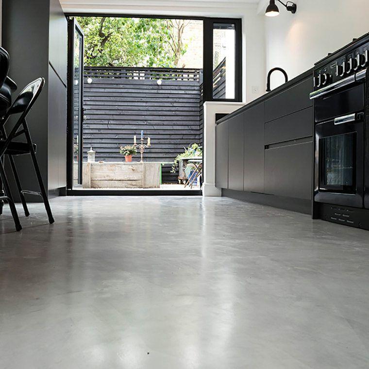 Revetement Sol En Resine Epoxy 35 Idees En Photos Betonvloeren Keuken Vloeren Keuken Beton