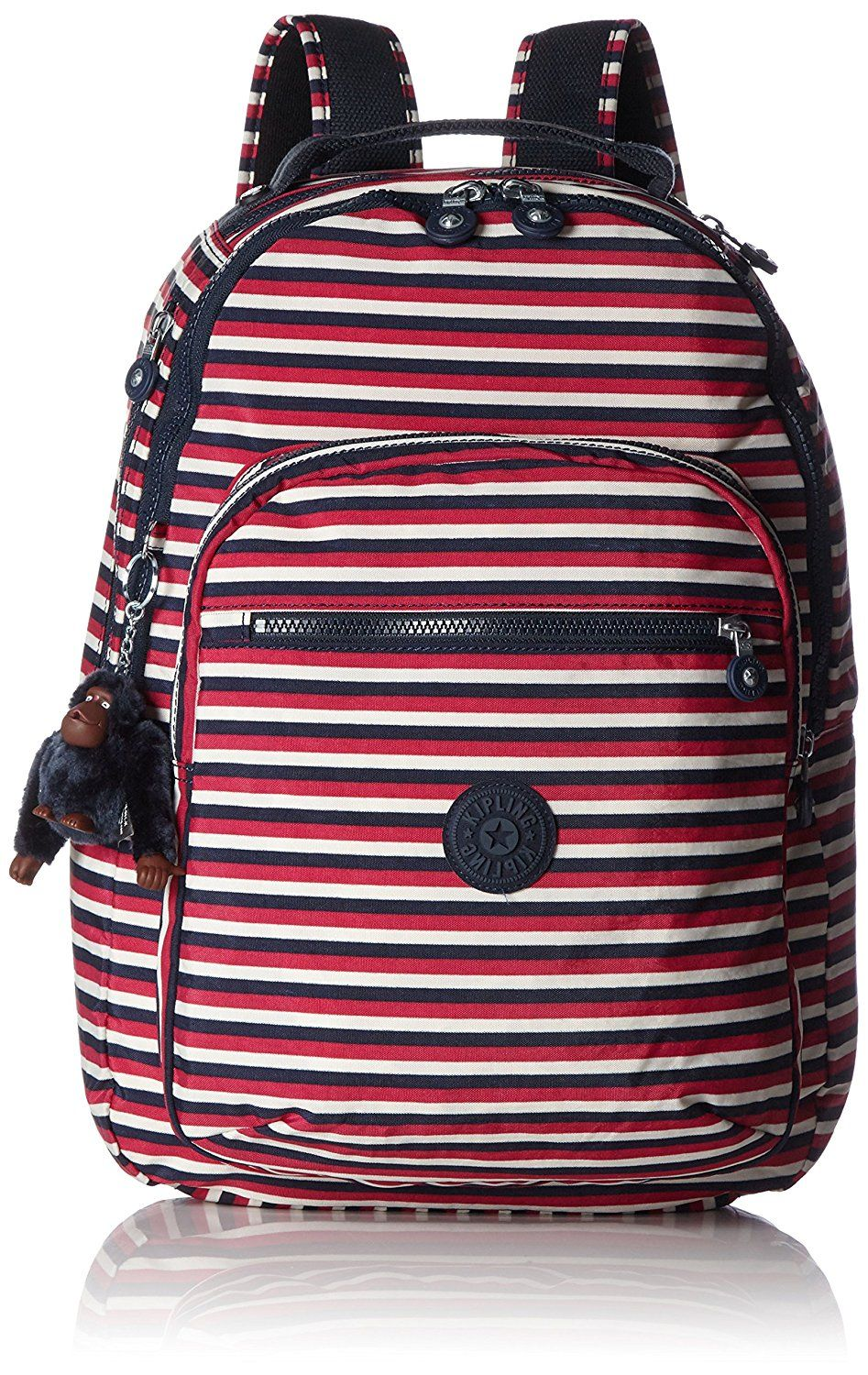 12e1fa2a94 Kipling - CLAS SEOUL - Large Backpack - Sugar Stripes - (Print):  Amazon.co.uk: Luggage