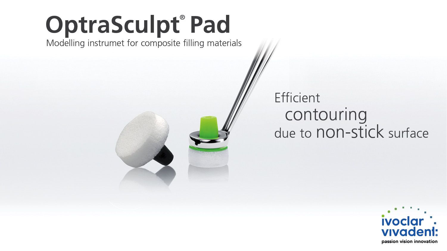 Optrasculpt Pad Is A Contouring Instrument With Special Foam Pad Attachments Which Is Designed For The Efficient Non Stick Formin Composite Fillings Pad Foam