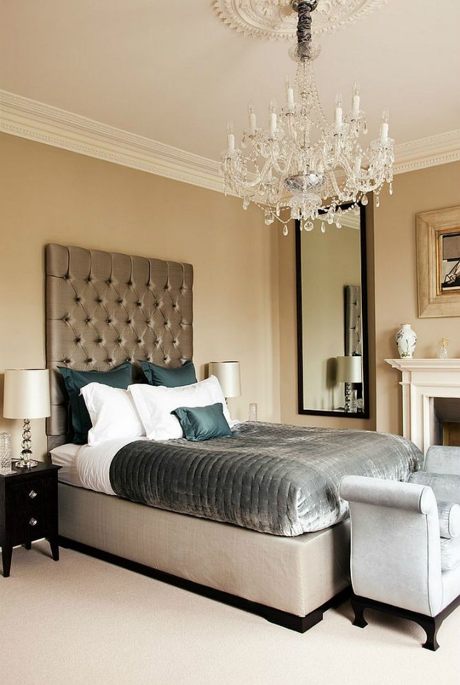 Sophisticated master bedroom decor with a unique