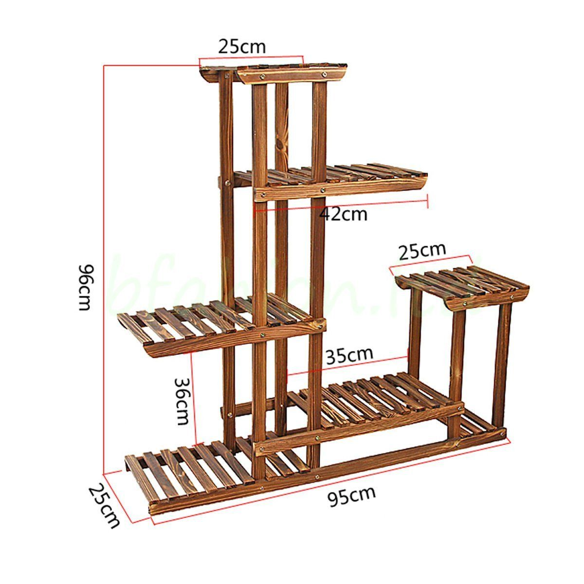 Malayas Wooden Plant Flower Display Stand Wood P*T Shelf 640 x 480
