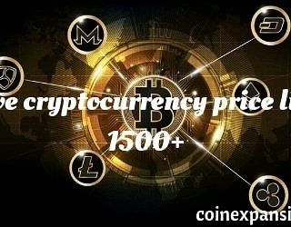 List of cryptocurrency and current price