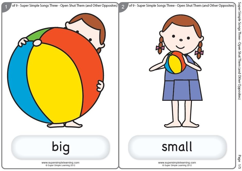 Big Small Big Ideas Math Preschool Worksheets Kindergarten Math Activities