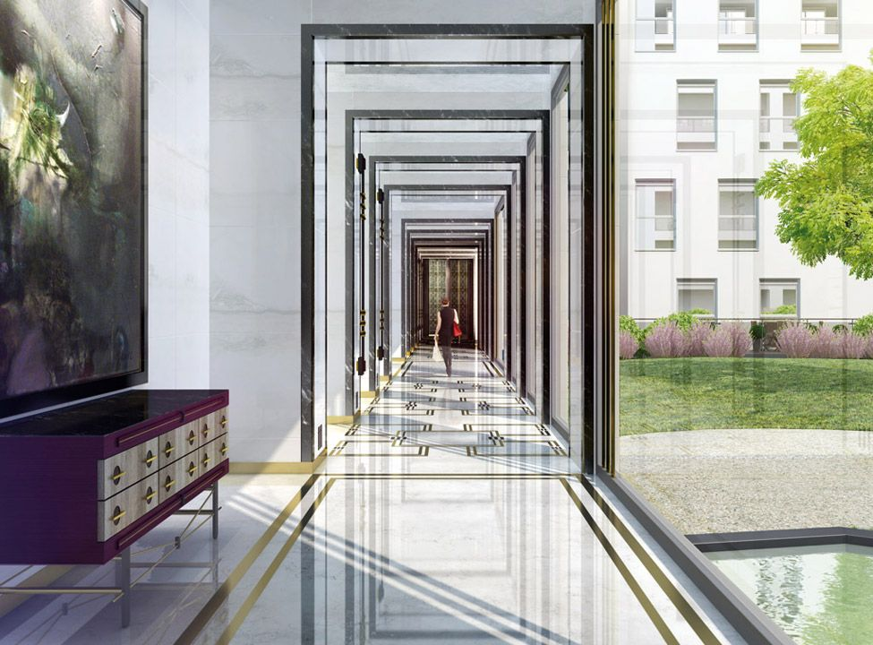Port Baku Azerbaijan Port Baku Residence Gallery Lobby Interior Design Hotel Corridor Space Architecture