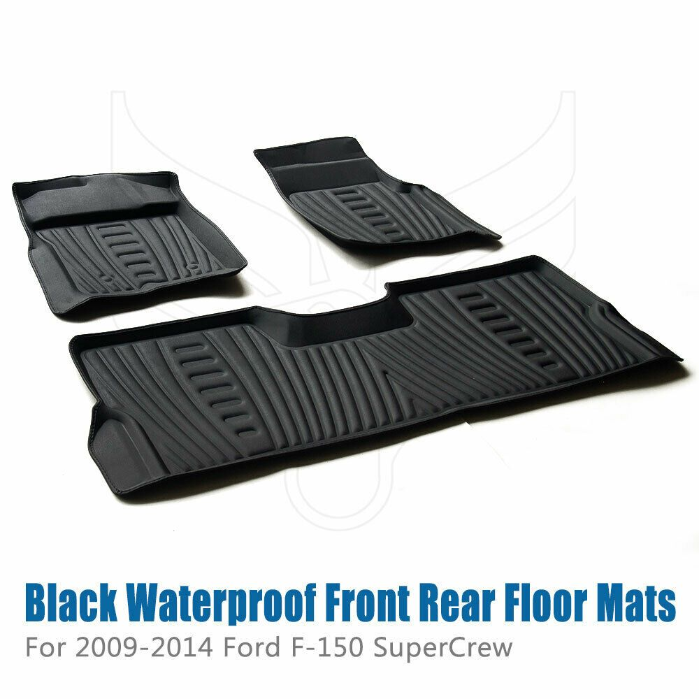 Waterproof Floor Mats Liners For 2009 2010 2011 2012 2013 2014 Ford F 150 Pickup In 2020 Waterproof Floor Mats Floor Mats Ford F150