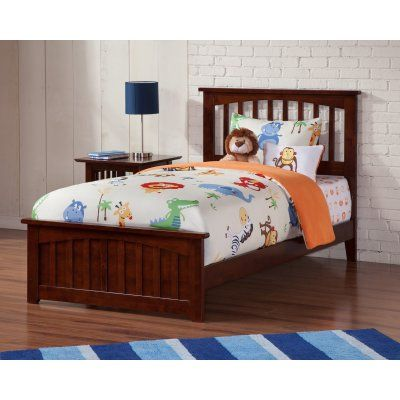 atlantic furniture mission bed with matching footboard size queen rh pinterest com