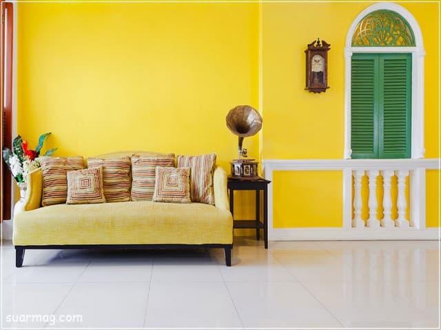 احدث الوان دهانات 2021 الوان حوائط مميزة لغرف النوم والأطفال والصالة مجلة صور Yellow Painted Walls Yellow Walls Home Decor