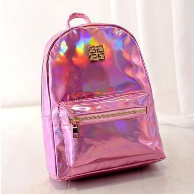 18caaf5a221c SANYI bk Holographic Backpack Women School Backpacks For Teenage Girls  Fashion Travel Rucksack Small PU Leather