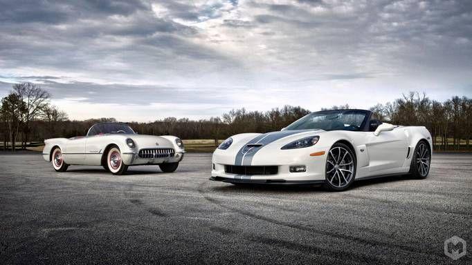 old school and new school chevy corvette wallpaper white chevy rh pinterest com