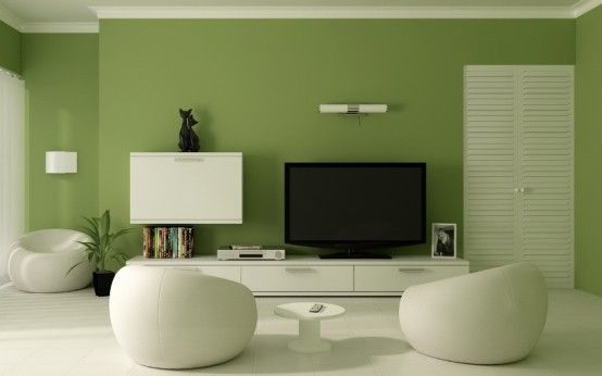 Delightful Green Interior Paint Color Combinations 554x346 (554× Nice Design