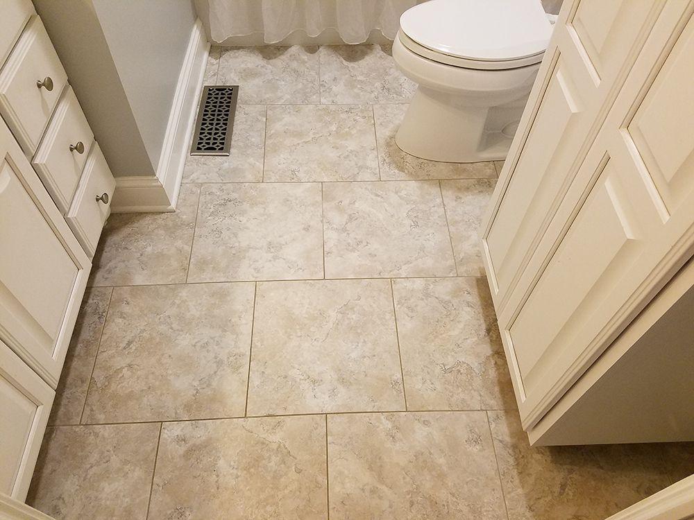 Shabby Chic Bathroom A Nice Alternative To Tile, Armstrong Alterna Durango  Bleached Sand Floor.