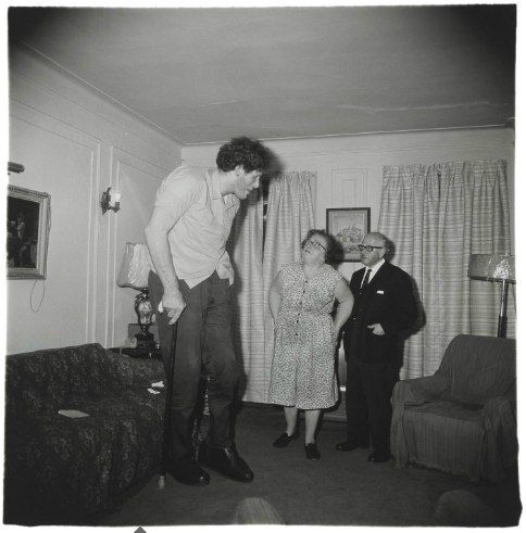 A Jewish giant at the home of his parents, Bronx, from 'A Box of Ten' (1967) by Diane Arbus (1923-1971)