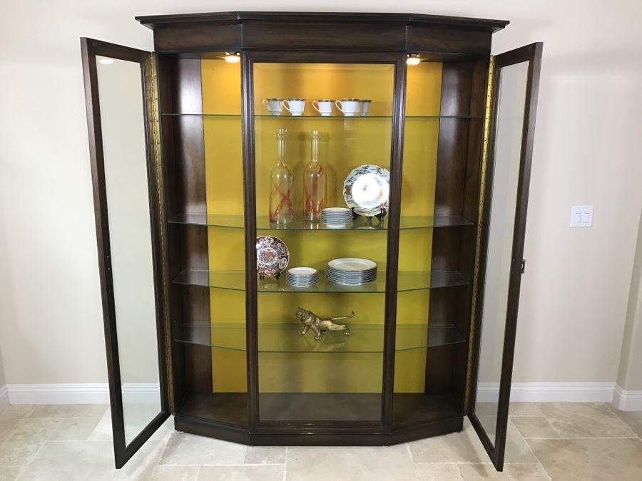 nice wooden china display curio cabinet with beveled glass and rh pinterest com