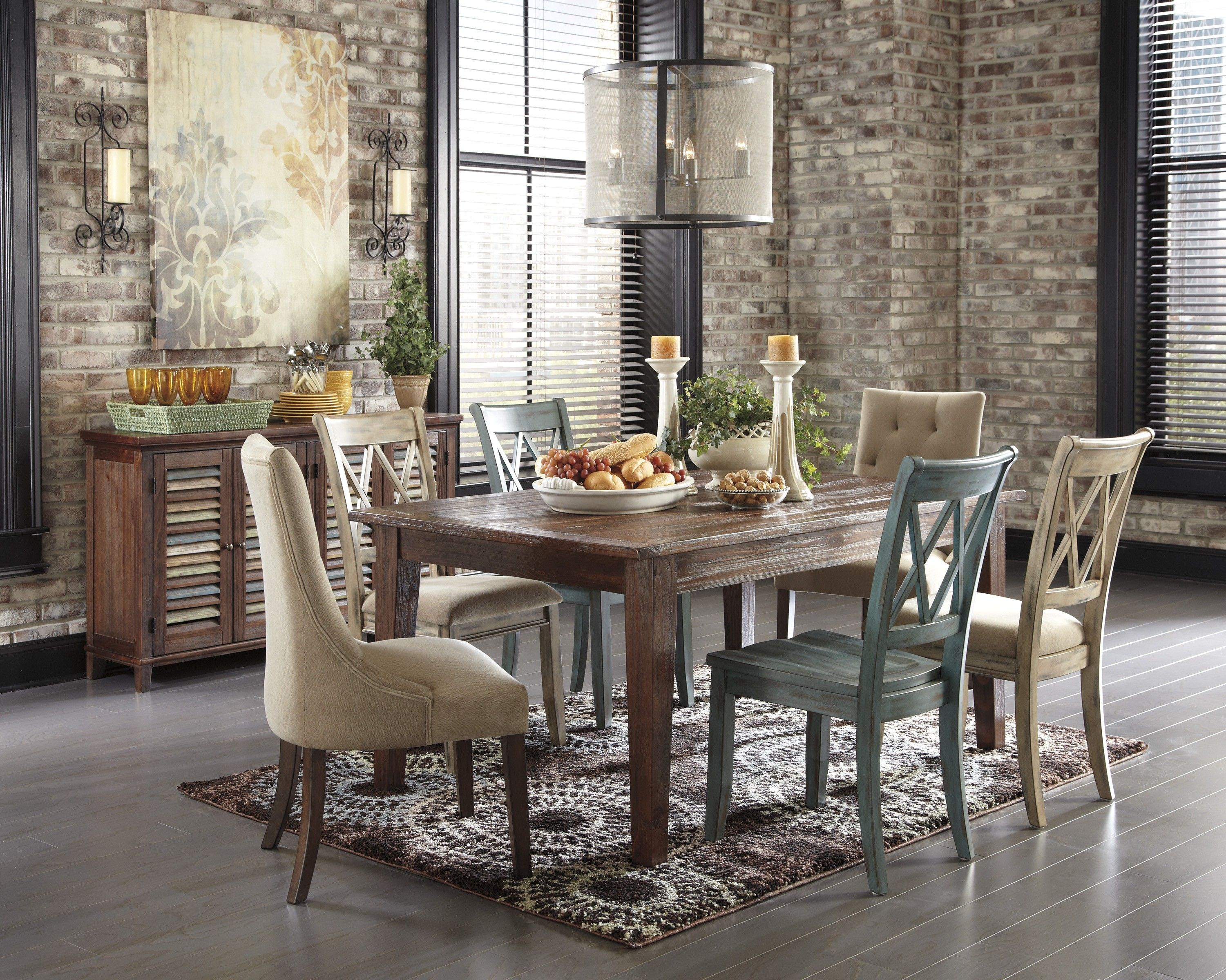 Dining Room Rustic Wooden Dining Chairs And