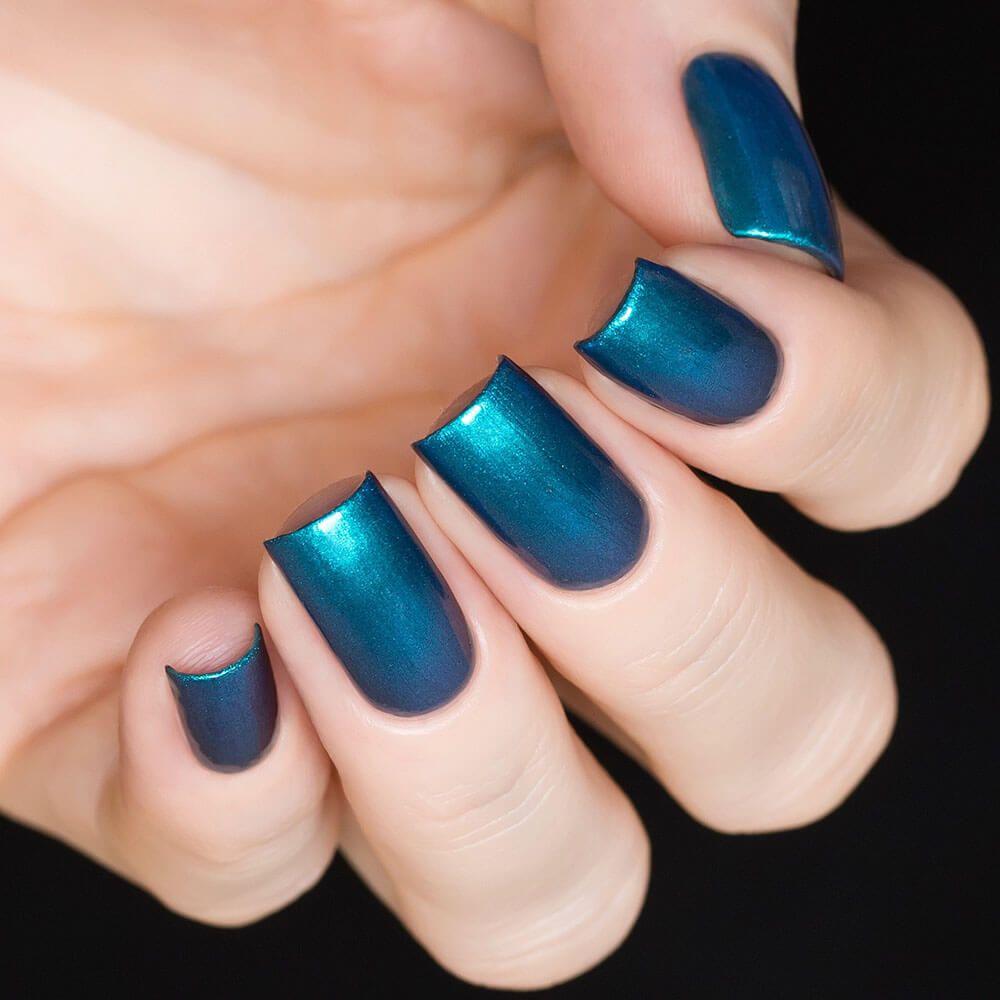 Sky Temple 1087 Dark Blue Nails Nail Polish Blue Nail Designs