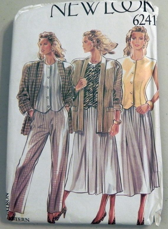 1990s Jacket Top Skirt and Pants sewing by retroactivefuture, $8.00