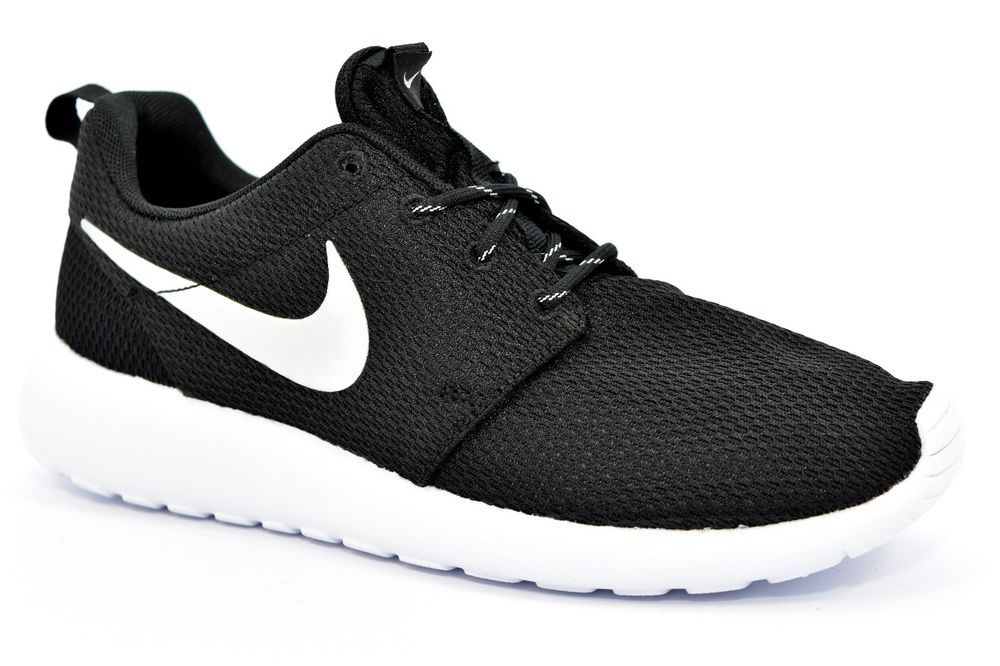 hot sale online ed714 1a17a NIKE 511882 094 ROSHE ONE NERO ARGENTO Bianco Running Palestra Unisex  Sneakers