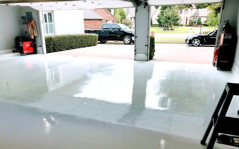 White Epoxy Garage Floor Coating 6 Month Review Garage Floor Coatings Garage Floor Epoxy Epoxy Garage Floor Coating